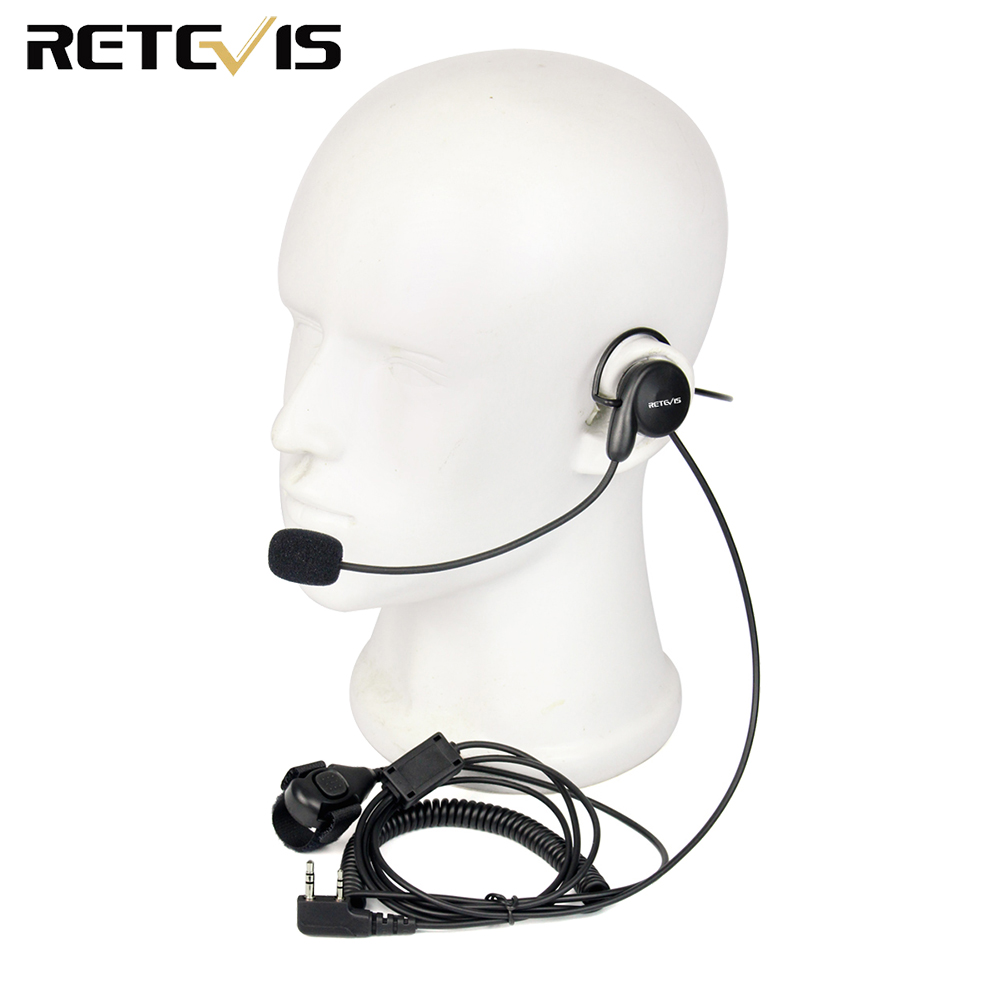 Retevis 2 Pin Earpiece Mic Finger PTT Headset for Kenwood BAOFENG UV-5R BF-888s Retevis H777 TYT Ham Radio Walkie Talkie C9029A