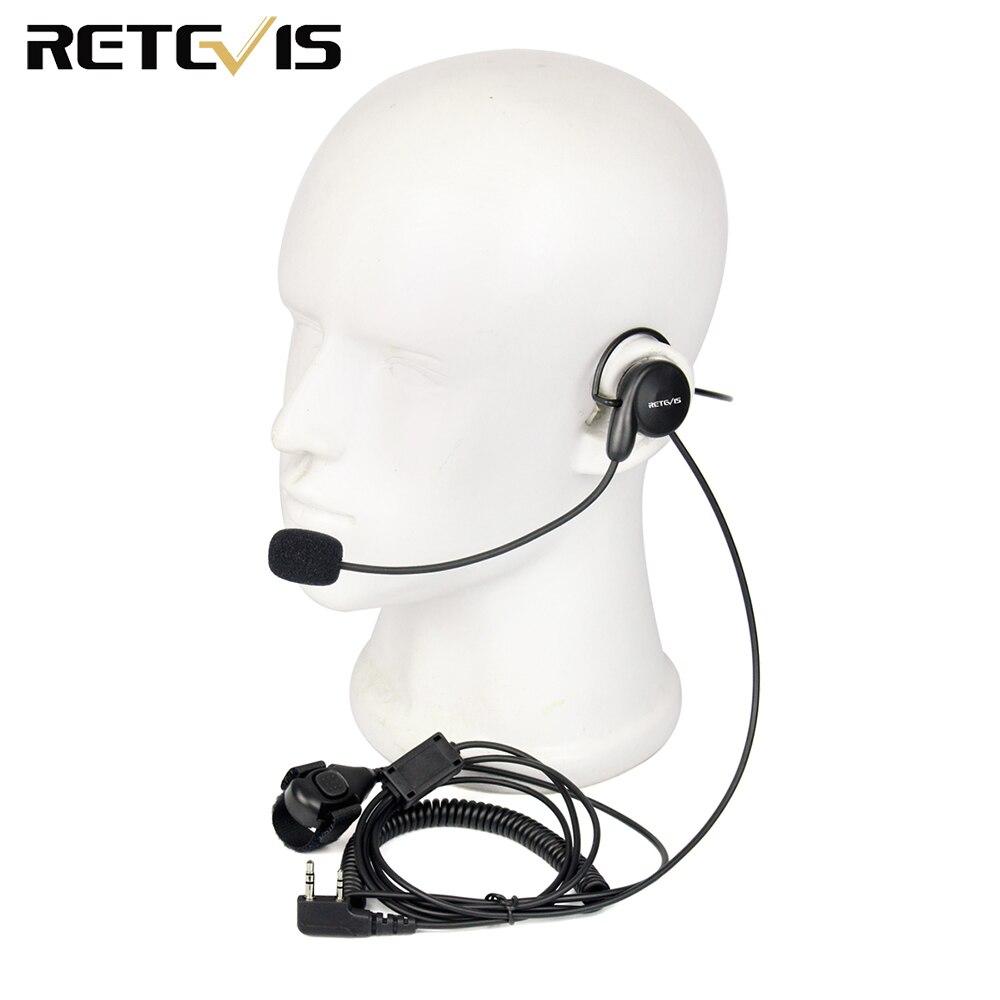 Retevis 2 Pin Earpiece Mic Finger PTT Headset for Kenwood BAOFENG UV-5R BF-888s Retevis H777 TYT Ham Radio Walkie Talkie C9029A