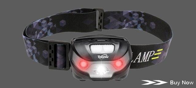 Светодиодный налобный фонарь с датчиком движения аккумулятором