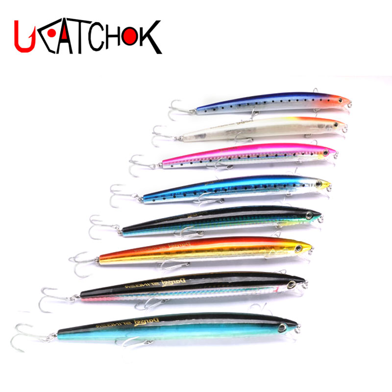 1pcs/pack 23g Big Game fishing lures 160mm plastic hard bait pesca fish wobbler minnow artificial swimbait shore long casting 1 pcs deli big fish