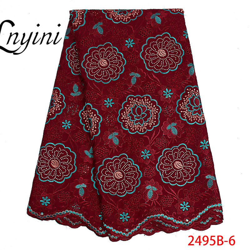 Wine Wholesale High Quality Swiss Voile Lace In Switzerland Pretty100 Cotton Swiss Voile Lace For African