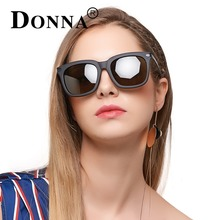 DONNA Classic Men HD Polarized Sunglasses Square Women Men Vintage Luxury Brand Designer Driving Fashion Sun Glasses UV400 D85