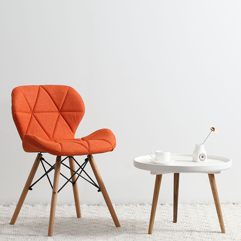 Современный минималистичный стол компьютерный стул домашний Ресторан обеденный стул из твердой древесины скандинавский диван спинка макияж пляж - Цвет: M