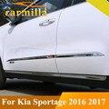 Ajuste Inferior Del Cuerpo Reacondicionamiento Coche 4 Puertas de Acero inoxidable Tiras Rasguño Anti Líneas Para Kia Nuevo Sportage Sportage QL KX5 2017