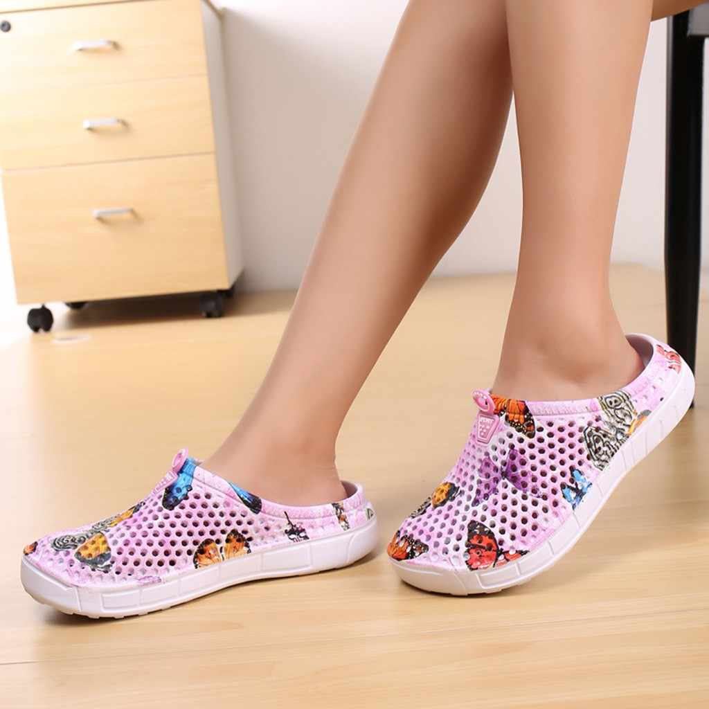 Women's Beach Sandals Summer Sea Aqua Shoes Ladies Butterfly Beach Sandals  Hollow Casual Breathable slippers Flats Shoes #g2|Low Heels| - AliExpress