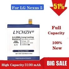 100% NEW Original BL-T9 Mobile Phone Battery For LG Nexus 5 BL-T9 E980 G D820 D821 BLT9 Replacement Battery 3100 mAh стоимость