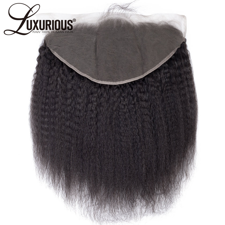 Peruvian Remy Hair 150 Density 13 6 Lace Frontal With Baby Hair Kinky Straight Ear To