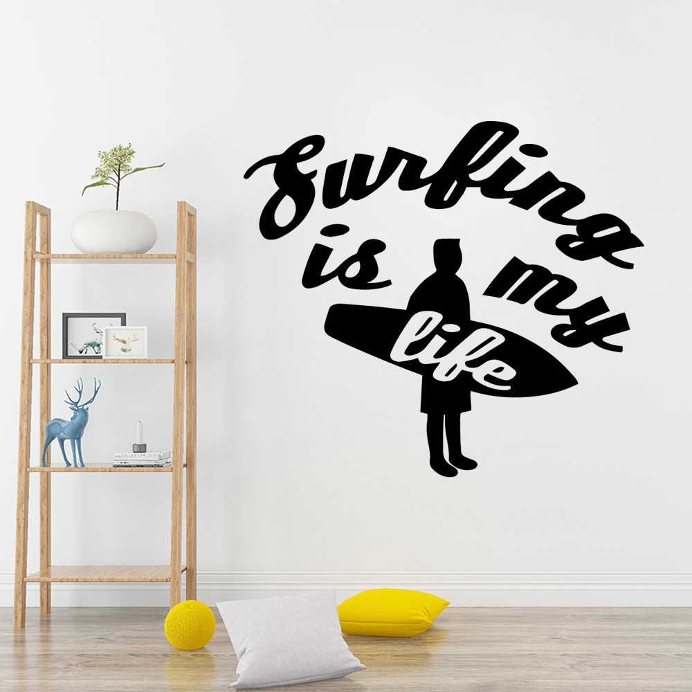 Hot Sale sentence Waterproof Wall Stickers Home Decor Waterproof Wall Decals Wall Decoration Murals in Wall Stickers from Home Garden