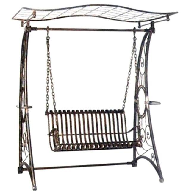 Salon de jardin, Mobilier en fer forgé, Forgé swing de fer chaise en ...