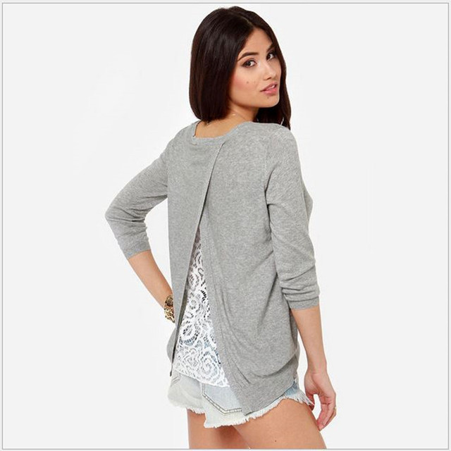 2016 высокое качество свитер женщин лоскутное кружева пуловер Feminino трикотажные Sweter Mujer с длинным рукавом женщины свитера и пуловеры