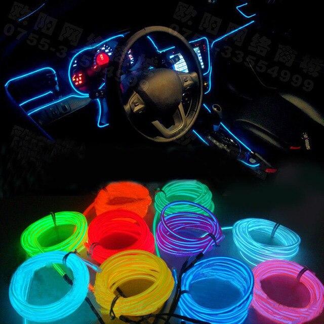POSSBAY 4m EL Wire Dance Party Car Decor Lighting Flexible
