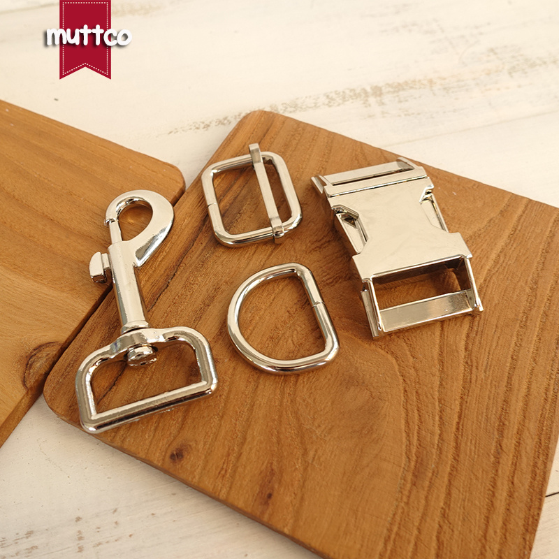 20sets lot metal buckle adjust buckle D ring metal dog clasp set Wholesale silver accessory 25mm