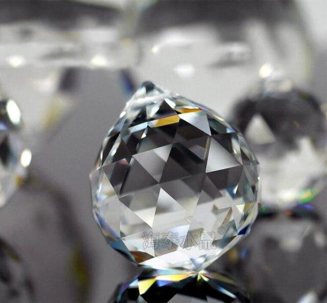 1 шт. 20 мм Кристалл подвесной граненый шарообразный стеклянный призма, детали люстры бусина-подвеска занавеска рукодельный феншуй украшения для дома Декор DIY