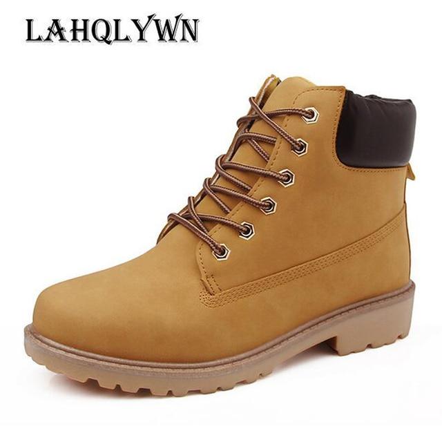 09b00e16caba Herbst winter frauen ankle boots new fashion frau schnee stiefel für  mädchen damen arbeiten schuhe plus