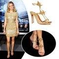 2017 new super star especial rebites sapatos mulheres do dedo do pé aberto v-string buckle strap evening partido prata ouro tornozelo sandálias de correia