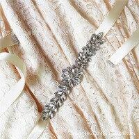 Women's Fashion Wedding Sash Belt Crystal Rhinestone Pearl Bridal Sash Wedding Belt Sash