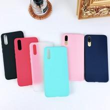 Fashion Soft Back Matte Color case for Xiaomi 6 5s plus Mix 2 2s 5c TPU Silicone Cover on Redmi Note 5 Y1 lite 4X Coque