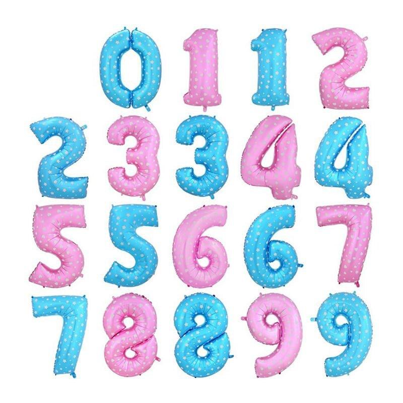 1 UNID Engrosada Número Foil Globos de Helio de 40 pulgadas Feliz Festivo Nuevo