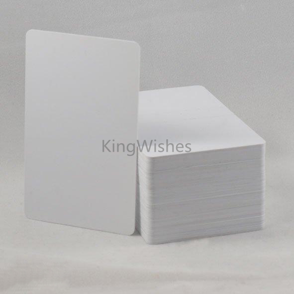 Free Shipping 20PCS/Lot Inkjet Printable Blank PVC ID Card No Chip For Epson P50 A50 T50 T60 R390 L800 Tray 86 x 54 x0.76mm 20pcs lot double direct printable pvc smart rfid ic blank white card with s50 chip for epson canon inkjet printer