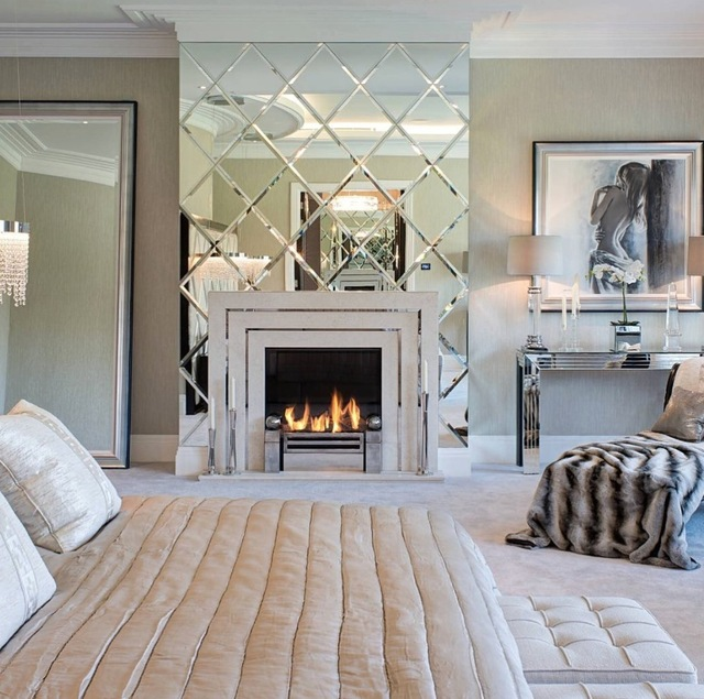 Luxury Beveled Mirror Tiles Decoration For Bedroom In Decorative