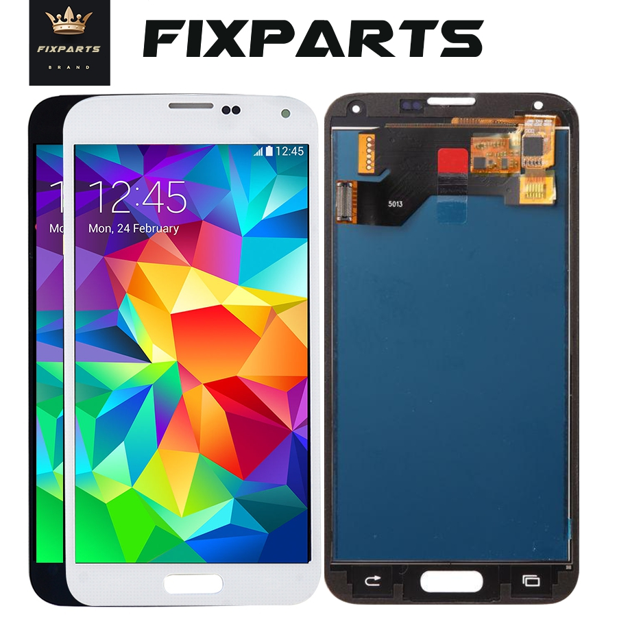 Hight Qualily Full LCD For <font><b>Samsung</b></font> S5 LCD <font><b>G900F</b></font> <font><b>Display</b></font> LCD Screen Touch Digitizer Assembly For <font><b>Samsung</b></font> Galaxy S5 G900 <font><b>G900F</b></font> LCD image