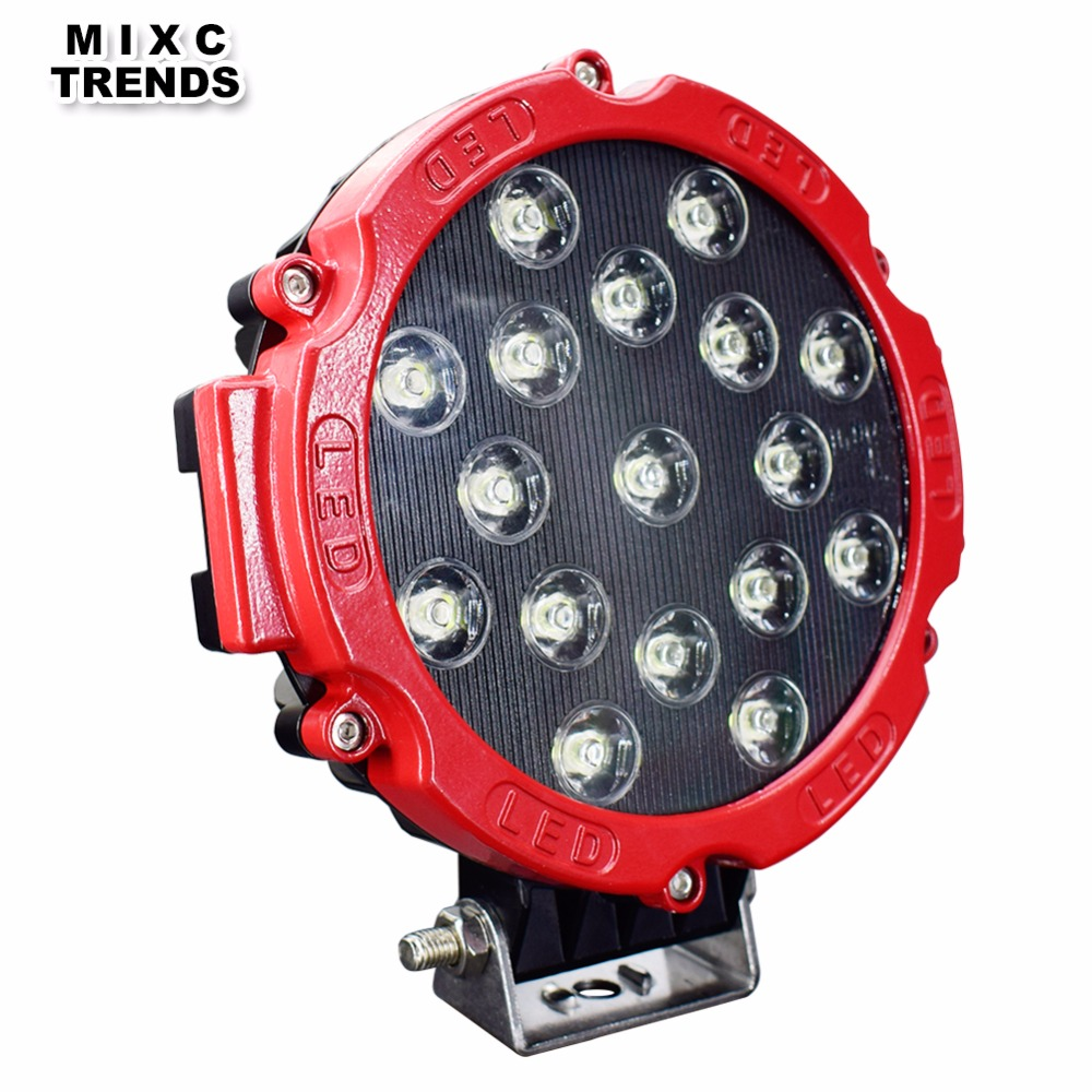 1Pcs Car Round 7Inch 51W LED Work Light 12V 24V High Power Spot LED Light For 4x4 Offroad Truck Tractor ATV SUV Driving Fog Lamp 19inch 40w 6500k ip67 4000lm car led high power working light headlights for truck outdoor work lamp