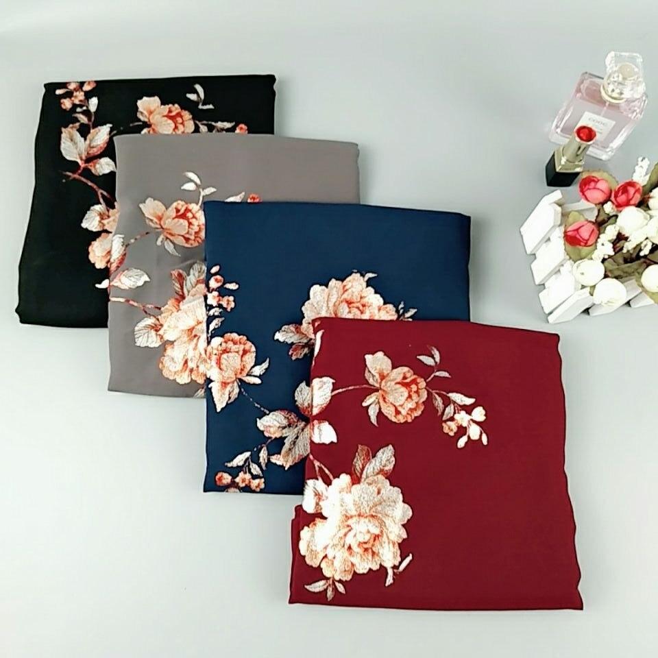 S1 High Quality Flower Printed Bubble Chiffon Hijab Wrap Shawl Women Scarf Scarves 180*75cm 10pcs / Lot