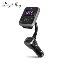 Digitalboy Bluetooth Kit de Coche Transmisor FM Con Cargador USB Coche Reproductor de MP3 USB SD TF Tarjeta Manos Libres Inalámbrico