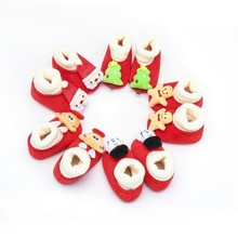 Christmas Baby Shoes Toddler Infant Boy Girl Elk Cartoon Soft Bottom First Walkers Casual Walking Crib Shoes For Newborn