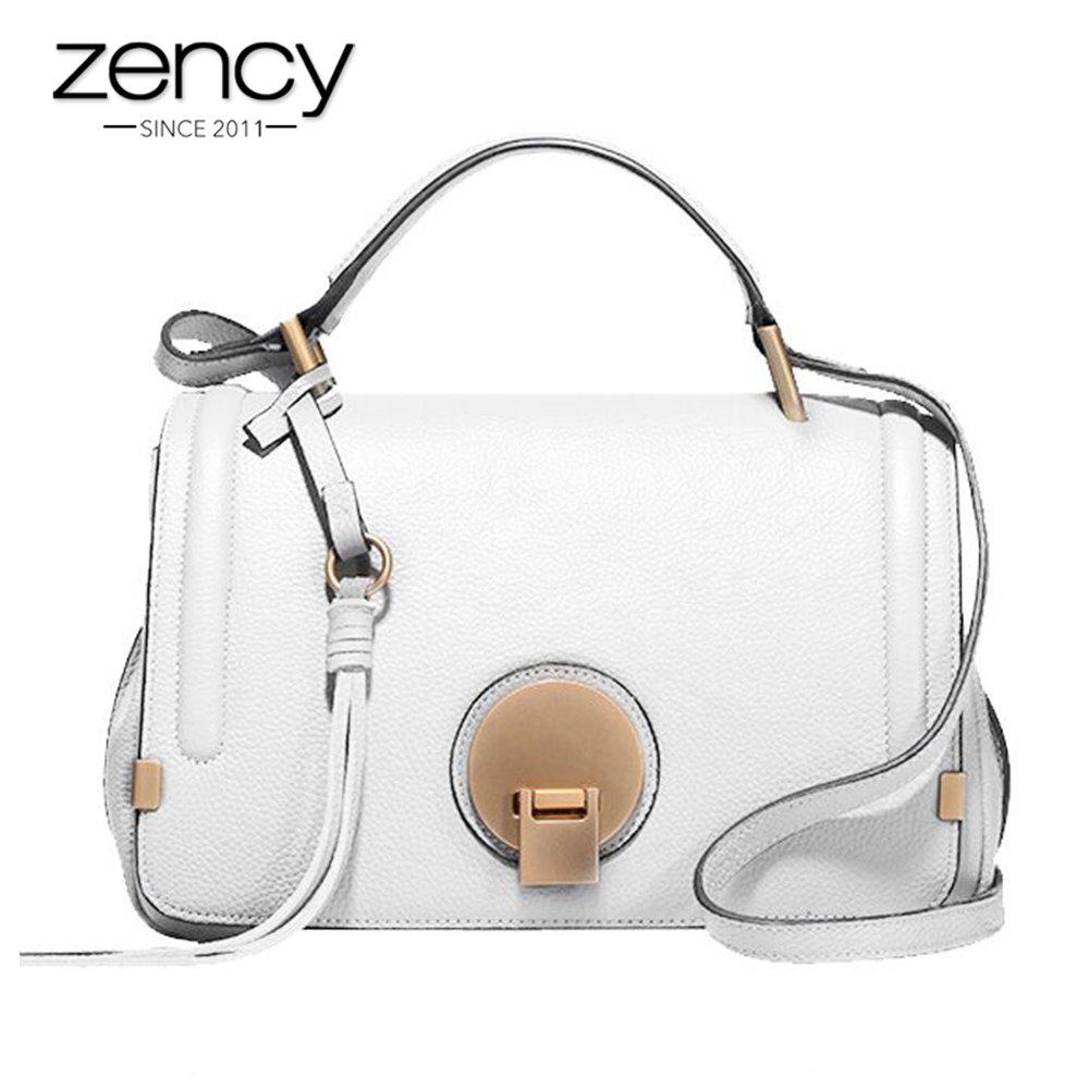 Zency Fashion Famous Brand 100% Genuine Leather Women's Handbags Ladies Small Purse Shoulder Messenger Bags Clutch Female Bag qiaobao 100% genuine leather handbags new network of red explosion ladle ladies bag fashion trend ladies bag