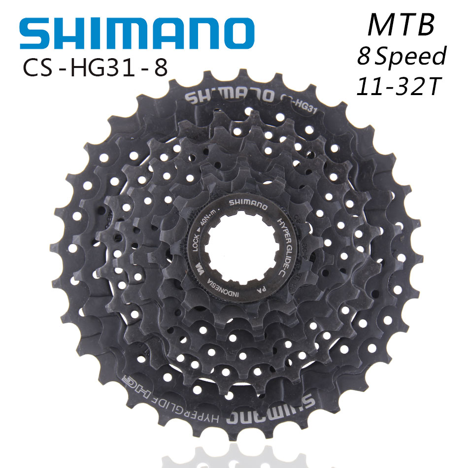 <font><b>SHIMANO</b></font> CS-<font><b>HG31</b></font>-<font><b>8</b></font> Flywheel <font><b>8</b></font>-Speed 11-32T Folding Mountain Bike Parts Suitable for M360 M310 M280 M410 k7 X4 image
