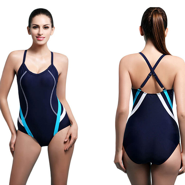 d850f6b59a2bc Sport Swimwear female one piece professional athletic sport push up swimsuit  racing body suits diving short wetsuit