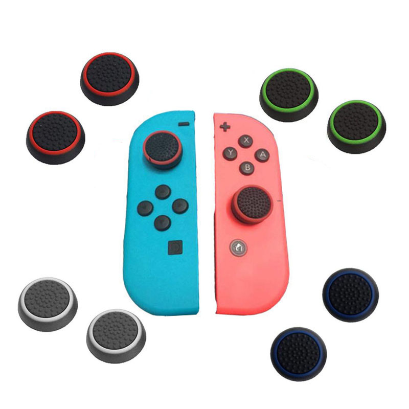 Silicone Thumb Stick Grip Caps Joypad Analog Joystick Cover Case For Nintend Switch NS JoyCon Controllers Joy-Con ThumbStickSilicone Thumb Stick Grip Caps Joypad Analog Joystick Cover Case For Nintend Switch NS JoyCon Controllers Joy-Con ThumbStick