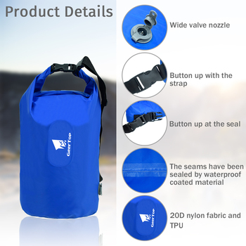 GeerTop Multifunctional Inflatable Air Pillow Large Dry Bag Storage Bag Pump for Sleeping Pad Tourist Camping Outdoor Backpack 2