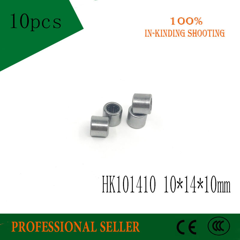 Free shipping High Quality 10Pcs HK101410 <font><b>HK1010</b></font> 57941/10 Drawn Cup Type Needle Roller Bearing 10 x 14 x 10mm image