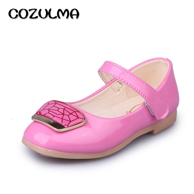 COZULMA Spring Summer Girls Shoes Sandals Kids Girls Patent Leather Shoes Children Shoes Girls Princess Party Shoe Dance Sandals
