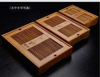 Bamboo Tea Tray Service Table Glass kung fu glass set Free Shipping .