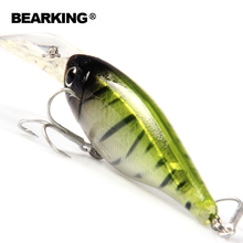 BearKing Retail A+  fishing lures 2017 Hot-selling   80mm/14g, slim size minnow shad crank popper penceil bait good quality