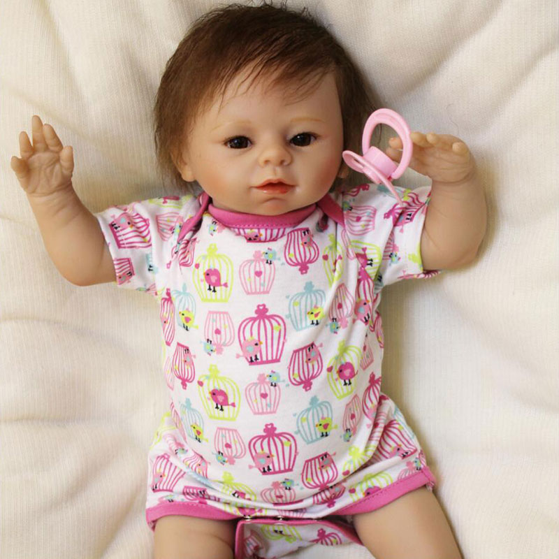 handmade 20inch 50cm cute Silicone baby reborn dolls lifelike  doll NPKCOLLECTION reborn babies toys Bebe girl  for Kid's Toys silicone reborn baby dolls 16 inch girl doll handmade babies stuffed