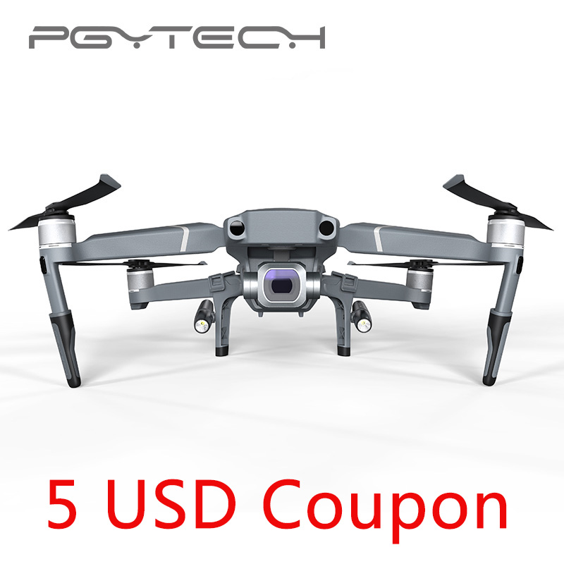 New Arrival PGYTECH Mavic 2 Landing Gear Extensions LED Head lamp light set for DJI Mavic 2 Pro Zoom (without batteries) pgytech dji mavic 2 landing gear riser extended landing gear leg for dji mavic 2 pro zoom fly more combo drone accessories parts