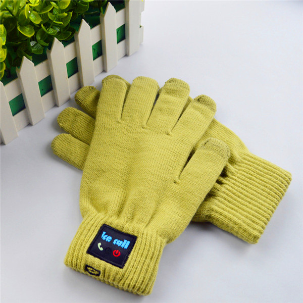 Unique Design winter Arrival Bluetooth Mobile Headset Speaker wool knit Touch Screen Gloves все цены