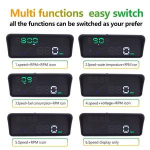 Image 4 - GEYIREN P9 Car HUD Head Up Display OBD Smart Digital Meter For Most OBD2 EUOBD Cars P9 HD Projector Display The Car Dashboard