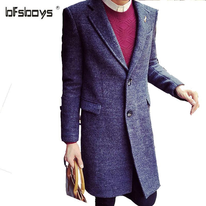 Men long wool coat of new fund of 2017 autumn winters is men's clothing han edition cultivate one's morality trench coat