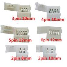 Free Shipping 5pcs 2pin 3pin 4pin 5pin 6pin led connector Clip, for 5050 3528 3014 WS2812b LED Strip light комплектующие для осветительных приборов pole hi light 3528 led 5050 220v 3014