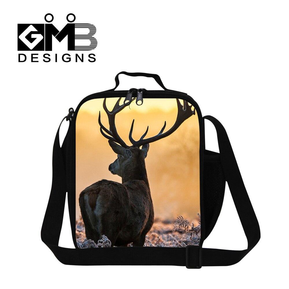 Санта печать детская сумка для обеда термо Крышка для еды сумка Детская сумка для пикника еда переноски хранения пикника Tote Bolsa Feminina - Цвет: Темно-серый