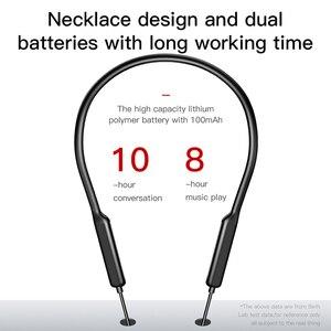 Image 2 - Baseus fone de ouvido apoiável no pescoço s12, fone auricular wireless com bluetooth 5.0, headset com microfone