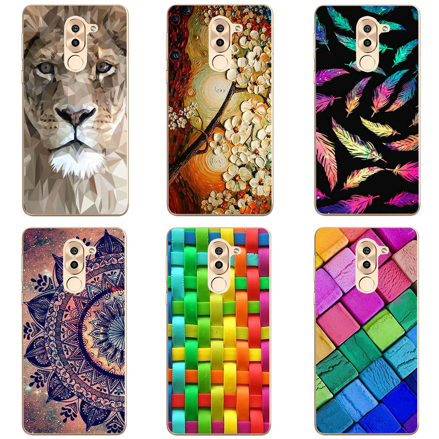 TPU Cover For Huawei Honor 6X Case 5.5 inch Painting Silicone Soft Shell For HUAWEI Honor 6X Mate 9 Lite Phone Case Fundas