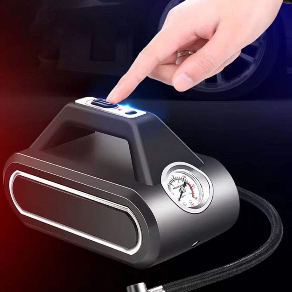 Compresseur d'air Mini gonfleur d'air intelligent sans fil Portable voiture pompe à Air pour Basketball vélos motos voiture bateaux en caoutchouc - 5