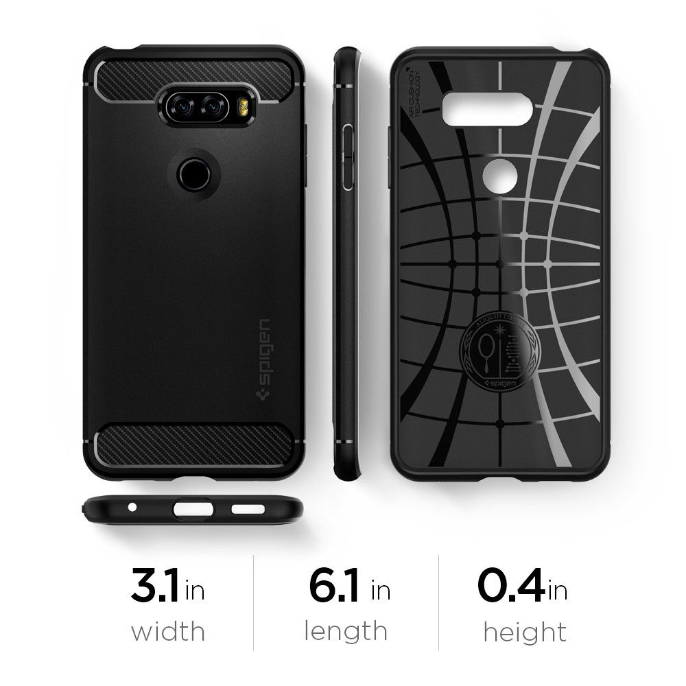 official photos 48ac5 f4846 US $16.99 |100% Original SPIGEN LG V30 Case Rugged Armor Case Black  A25CS21979-in Fitted Cases from Cellphones & Telecommunications on  Aliexpress.com ...
