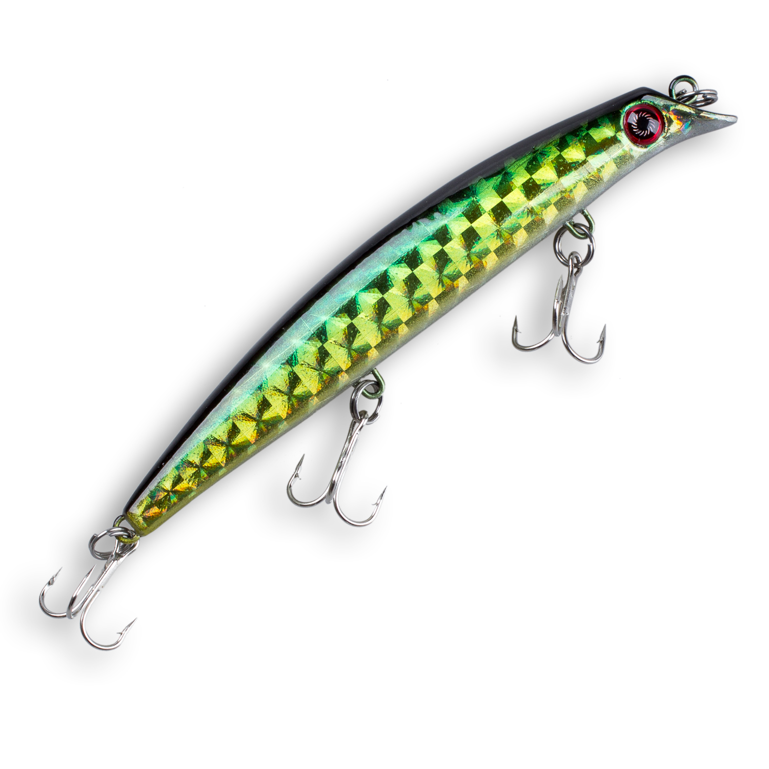 3D Eyes Crank bait Minnow Fishing Hard Lure 12cm / 15g 3 Treble Hooks Diving 0.5-1.5m(gr ...